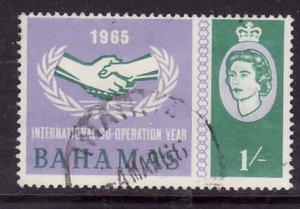 Bahamas-Sc#223- id7-used 1sh lt vio & green-Cooperation Year-1965-