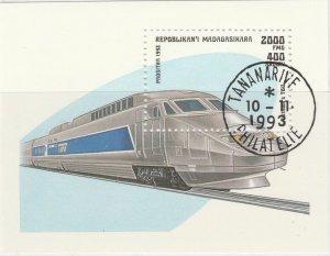 Malagasy Republic 1993 Trains Rail Sheet Mi. Block 238 Used 11895