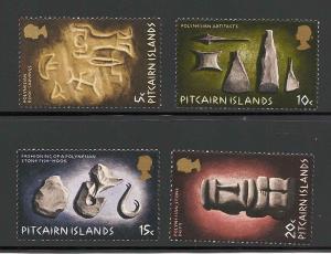 Pitcairn Islands 119-122 Mint VF NH