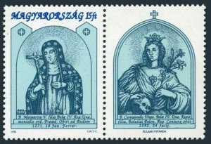 Hungary 3347-label,MNH.Michel 4201. St Margaret,750th Ann.in 1991.1992.