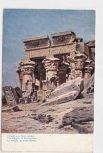 VINTAGE POST CARD , EGYPT , THE TEMPLE OF KOM-OMBO..  REF  P18