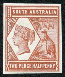 South Australia 1894 2 1/2d Colour Trial in Red brown no wmk Paper Fresh U/M