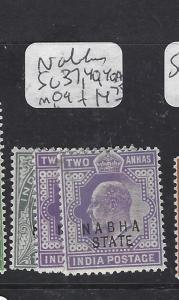 INDIA NABHA (PP0508B)  KGV  2A  SG  37, 40-40A   MOG
