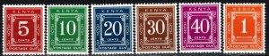 Kenya #J1c-J7c  MNH CV $8.80 (P674)