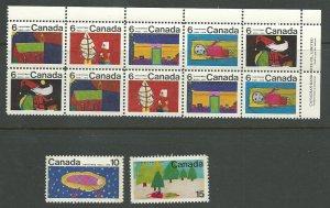 Canada 524-530   M NH VF 1970 PD