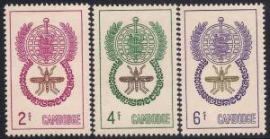 Cambodia 106-108 Mint VF H