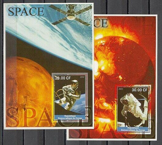 Congo, Dem. 2002 Cinderella issue. Space Walks on 2 s/sheets.