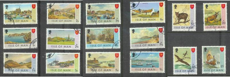 Isle of Man, 1973 First issue, set of 16, used