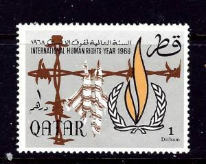 Qatar 128 MH 1968 Human Rights