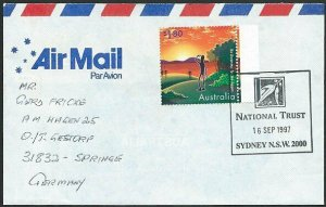 AUSTRALIA 1997 cover to Germany - nice franking - Sydney Pictorial pmk.....47283