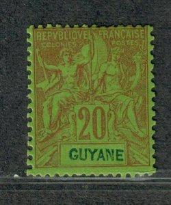 Fr. Guiana Sc#41 M/LH/F-VF, Cv. $25