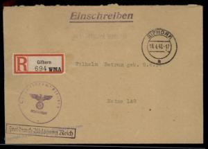 3rd Reich Kriegsmarine Navy WMA Gifhorn Registered Feldpost Cover 59722