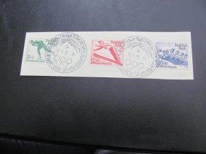 GERMANY 1936 USED SC# B79-81 OLYMPICS  SET ON PIECE