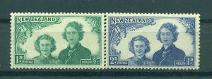 New Zealand sc# B24-25 mnh cat value $.70