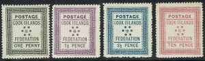COOK ISLANDS 1892 TYPESET 1ST ISSUE SET