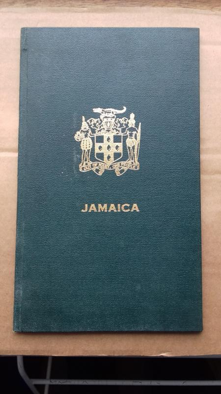 JAMAICA presentation album with stamps. Difficult to obtain