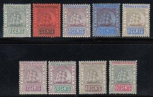British Guiana, Sc 160b-168a (SG 240-248), mostly MLH
