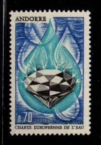 Andorra (Fr) Sc 191 1969 Water Charter, Diamond, stamp mint NH