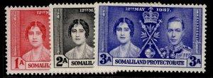 SOMALILAND PROTECTORATE GVI SG90-92, CORONATION set, M MINT.