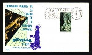 Spain 1964 Sevilla FDC / Alonso Painted / UA - L3682