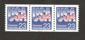 2608 USA & Flag Presorted Coil PNC Strip Of 3 (S111) Mint/nh FREE  SHIPPING