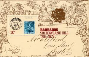 Barbados 1979 Sc #494 Sir Rowland Hill Souvenir Sheet (1) MNH VF