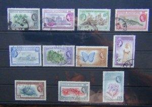 British Honduras 1953 - 1962 values to $5 Used