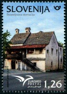 HERRICKSTAMP NEW ISSUES SLOVENIA Sc.# 1284 Euromed 2018 Houses