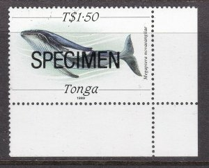 TONGA ^^^^^^SUPERB  MNH  WHALE  with  SPECIMEN $$@ ta1262tonga