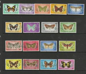 Norfolk Islands 1976/7 Butterflies DEf set VFU SG 179/95