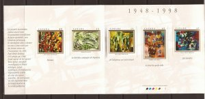 1998 Canada - Sc 1749a - MNH VF - Booklet Pane - The Automatistes