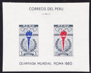 Peru Olympic Games Rome MS SG#MS853a SC#C173a