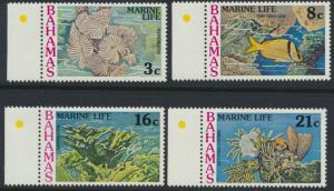 Bahamas  SG 493-496 SC# 406-409 MNH Marine Life see scan