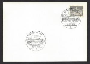 GERMANY SPECIAL EVENTS POSTMARK 1965 EUROPEAN Congress RAILWAY PHILATELY
