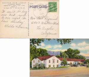 United States Arizona Littlefield 1938 4c-bar  PPC (Beaver Dam Lodge).