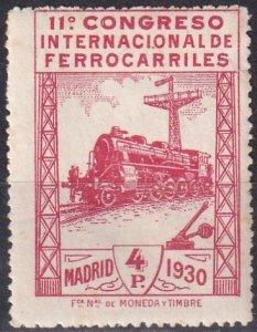Spain #384 F-VF Unused CV $80.00 (Z1545)