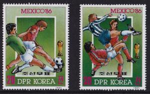 1985 Korea, North 2702-03 1986 World championship on football of Mexico