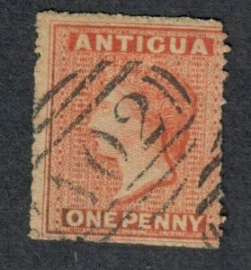 $Antigua Sc#2 used, Fine, part set, wmk#5, Cv. $60