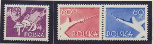 Poland Stamp Scott #766 and 768a, Mint Never Hinged - Free U.S. Shipping, Fre...