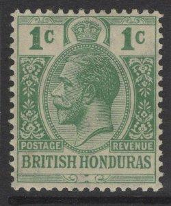 BRITISH HONDURAS SG116b 1917 1c YELLOW-GREEN MTD MINT