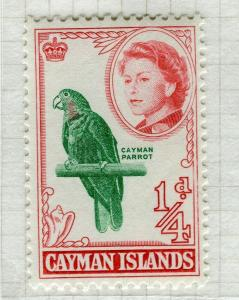 CAYMAN ISLANDS; 1962 early QEII pictorial issue fine Mint hinged 1/4d. value
