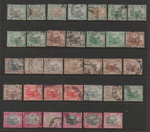 Malaya Federated States a range of used low value Tigers