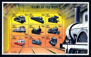 [62213] Bhutan 1999 Railway Train Eisenbahn Chemin De Fer Sheet MNH