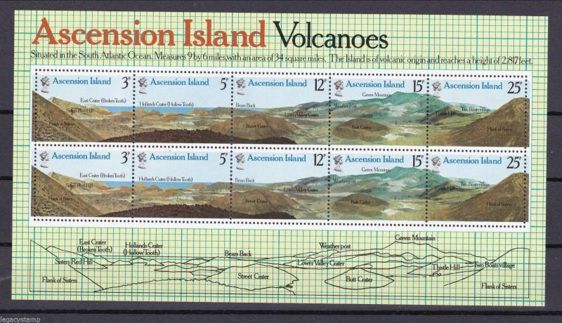 1978 Ascension Island Volcanic Rock Formations - Minisheet - MINT.