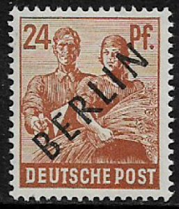Germany: Berlin #9N9 MNH Stamp - Berlin Overprint - 1/3 Cat.