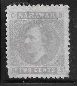Sarawak 3: 2c Sir James Brooke, used, Fault