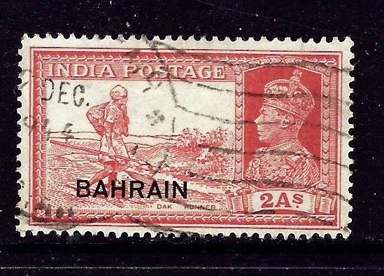 Bahrain 24 Used 1938 overprint issue