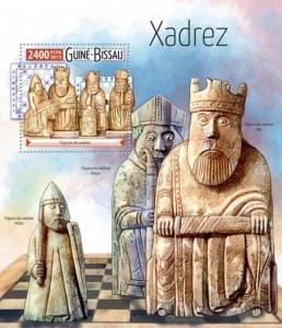 Guinea-Bissau - 2015 Chess Pieces - Stamp Souvenir Sheet - GB15514b