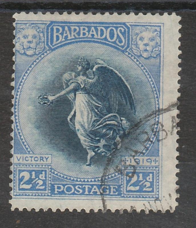 BARBADOS 1920 VICTORY 21/2D USED