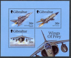 Gibraltar MNH S/S 811A Fighter Planes 1999